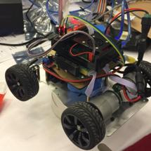谷歌开发社社区 黑客马拉松创客大赛:创客侠联盟的自动驾驶小车@GDG Hackthon