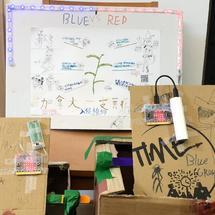 创客主题游戏:micro:bit 红蓝大作战,消灭入侵植物加拿大一枝黄花