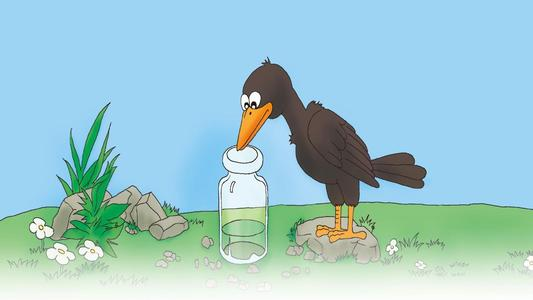 乌鸦喝水新编,保护水资源