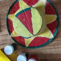 创客主题艺术:做个酷酷的炫彩草帽