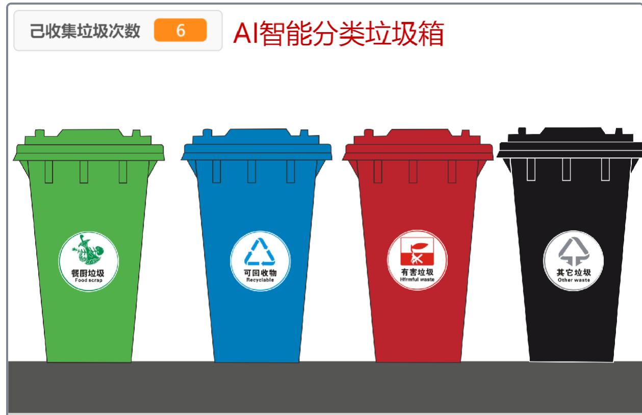 AI智能垃圾分类箱