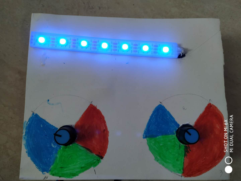挑战二     双电位器对光的三原色进行基本调值