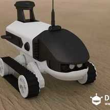 创客主题3D打印:履带车