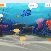 Mind+创客作品推荐:【玩转游戏 】父与子的创客赛——鲨鱼吃小鱼