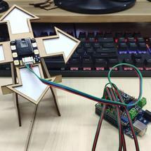 DFRobot创客作品推荐:带触摸的手势传感器试用:桌面级手势方向游戏机