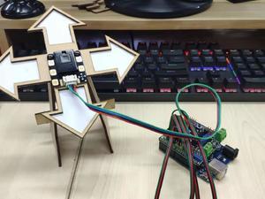带触摸的手势传感器试用:桌面级手势方向游戏机