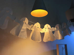 万圣节鬼影灯装饰