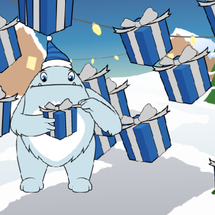 Mind+小怪物丢圣诞礼物小游戏