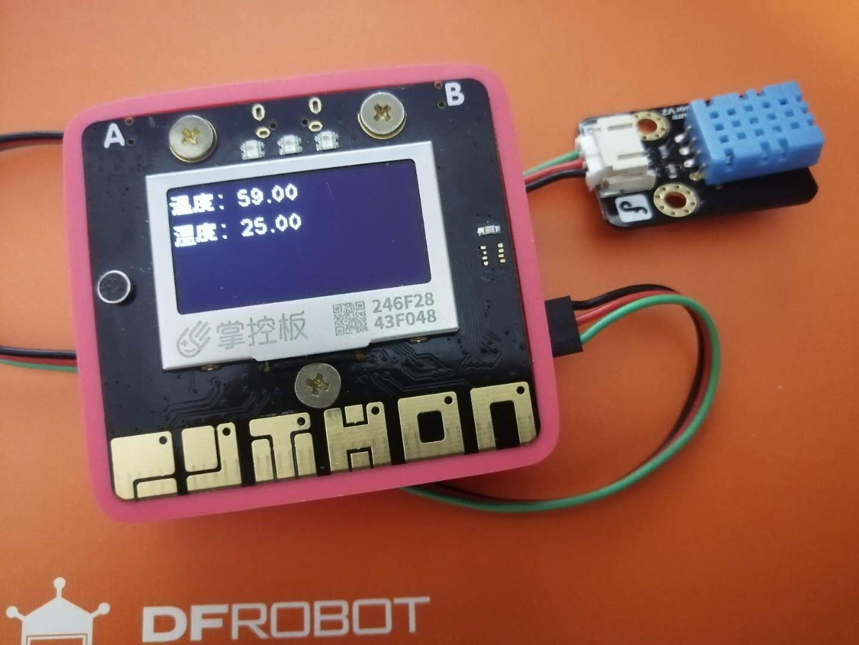 用掌控板和mind+获取、存储和展示环境温湿度