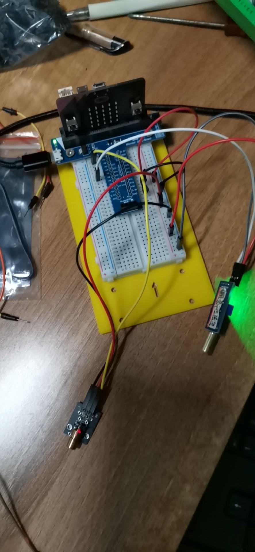 学习倾斜传感器控制激光枪灯