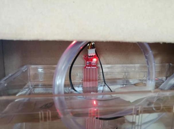 学生项目分享:车棚进水警报装置(主控:掌控板)