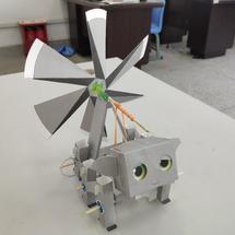 DFRobot创客作品推荐:Makelog初试日记:风力折纸机器人
