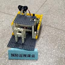 Arduino创客作品推荐:【Mind+Python】预防近视课桌